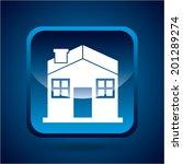 house design over blue... | Shutterstock .eps vector #201289274