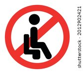do not sit here signage for... | Shutterstock .eps vector #2012902421