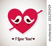 love design over gray... | Shutterstock .eps vector #201291929