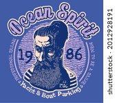 design t shirt ocean spirit.... | Shutterstock . vector #2012928191