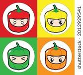 bell pepper paprika vegetable...   Shutterstock .eps vector #2012929541