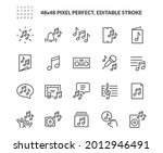 simple set of music related... | Shutterstock .eps vector #2012946491