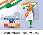 happy independence day 15th... | Shutterstock .eps vector #2012953451