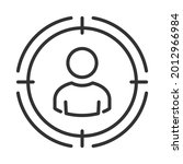 headhunting  user icon. target... | Shutterstock .eps vector #2012966984