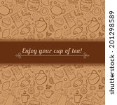 tea and sweets vector... | Shutterstock .eps vector #201298589