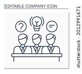 directors board line icon.... | Shutterstock .eps vector #2012991671