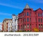 historic washington dc row... | Shutterstock . vector #201301589