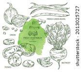 collection of vegetables  full... | Shutterstock .eps vector #2013025727