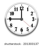 wall office clock isolated on... | Shutterstock .eps vector #201303137