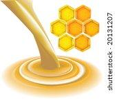 set of honey vector elements   Shutterstock .eps vector #20131207