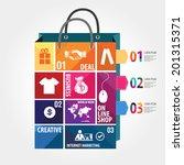 e commerce infographic template ... | Shutterstock .eps vector #201315371