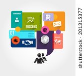 speech bubble jigsaw puzzle...   Shutterstock .eps vector #201315377