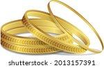 Royal Gold Bangle Indian Gold...