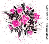 bridal bouquet. seamless floral ... | Shutterstock .eps vector #201316391