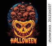 halloween pumpkins filled with... | Shutterstock .eps vector #2013166337