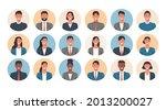 people portraits of businessmen ... | Shutterstock .eps vector #2013200027