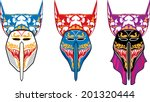 Vector Ghost Mask On White...
