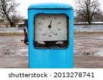 Dial Of Old Gasoline Pump Close ...