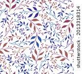 floral herbal pattern seamless... | Shutterstock .eps vector #2013318314