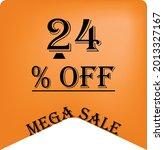 24  off on a orange balloon for ... | Shutterstock .eps vector #2013327167