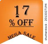 17  off on a orange balloon for ... | Shutterstock .eps vector #2013327194