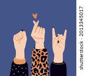 girl power  feminism and... | Shutterstock .eps vector #2013345017