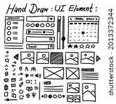 hand draw ui element sketch for ...