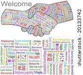 welcome hands in multiple... | Shutterstock .eps vector #20133742