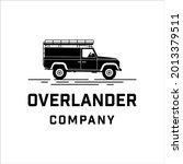vintage land rover defender car ... | Shutterstock .eps vector #2013379511
