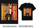 halloween scary vintage t shirt ... | Shutterstock .eps vector #2013381341