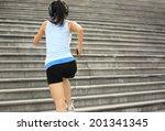 runner athlete running on... | Shutterstock . vector #201341345