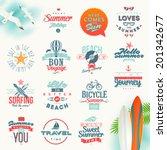 vector set of travel and summer ... | Shutterstock .eps vector #201342677