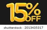 15 percent off. discount... | Shutterstock .eps vector #2013435317