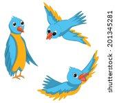 blue birds vector illustrations ... | Shutterstock .eps vector #201345281