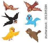 birds vector illustration set | Shutterstock .eps vector #201345284