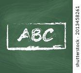 blackboard line icon design... | Shutterstock .eps vector #2013458261