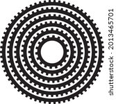 industrial gear round circular...   Shutterstock .eps vector #2013465701