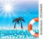 beautiful blue beach vector... | Shutterstock .eps vector #201346604