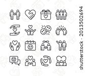 friendship icon set. contains...
