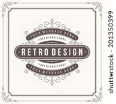 vintage design template. retro... | Shutterstock .eps vector #201350399