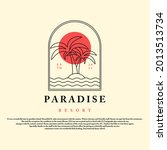 paradise resort vintage style... | Shutterstock .eps vector #2013513734