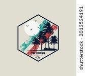 california beach  illustration...   Shutterstock .eps vector #2013534191