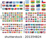 alphabetical country flags by... | Shutterstock . vector #201354824