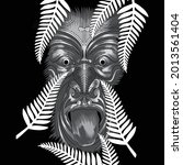 drawings of people with maori...   Shutterstock .eps vector #2013561404