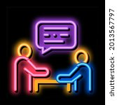 dialogue of two people neon...   Shutterstock .eps vector #2013567797