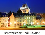 Quebec City Old Buildings With...