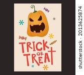 halloween trick or treat... | Shutterstock .eps vector #2013625874