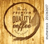 coffee label for cafe in blotch ... | Shutterstock .eps vector #201362657