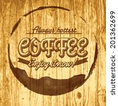 coffee label for cafe in blotch ...   Shutterstock .eps vector #201362699