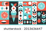 abstract colorful geometric... | Shutterstock .eps vector #2013636647